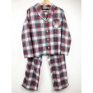 RALPH LAUREN Plaid Flannel Pajama Set M